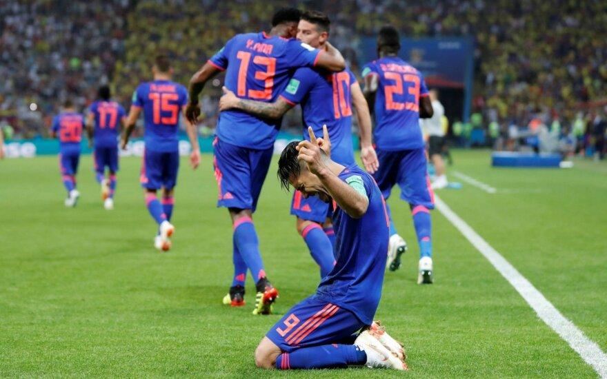 Kolumbijai nepasipriešinę lenkai – už aštuntfinalio borto
