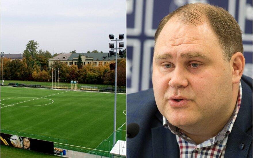 Andrius Markevičius (LFF nuotr., S. Čirbos) ir NFA aikštė Kaune (V. Knyzelio nuotr.)