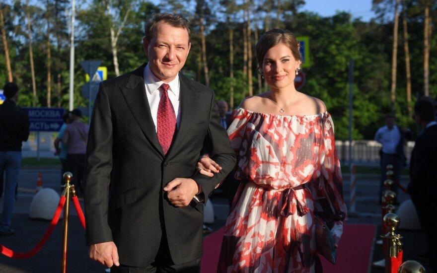 Maratas Bašarovas su žmona