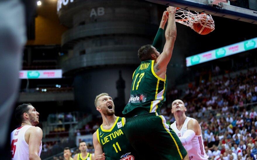 NBA bokštų vedama Lietuvos rinktinė pamokė Lenkijos krepšininkus