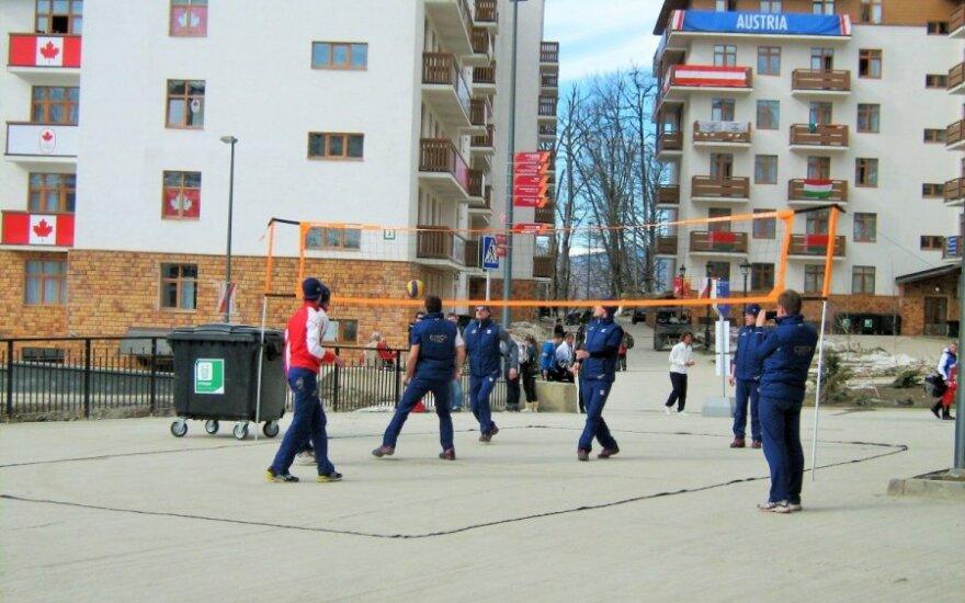 Čekijos komanda žaidžia tinklinį