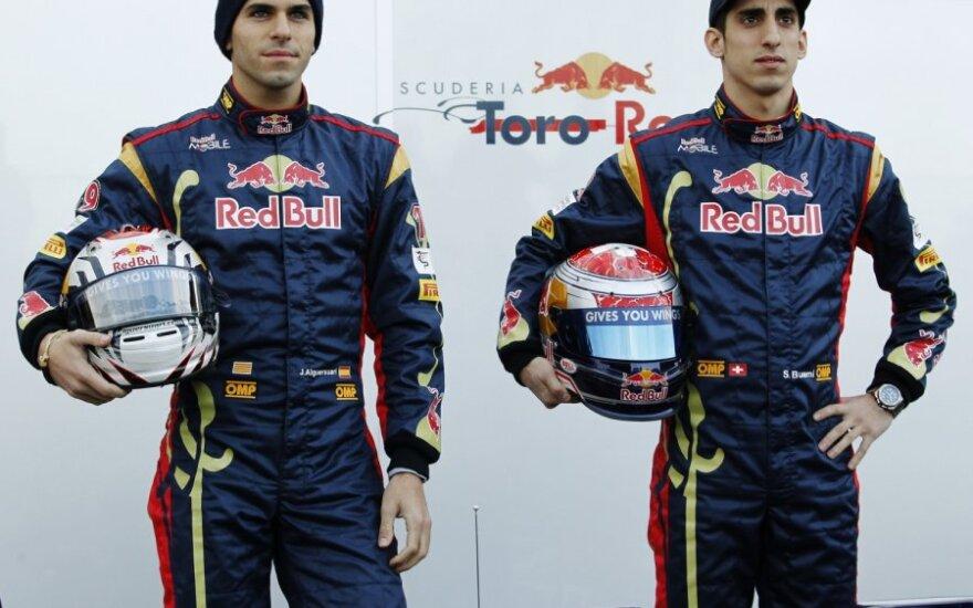 """""""Toro Rosso"""" pilotai Sebastienas Buemi ir Jaime Alguersuari"""