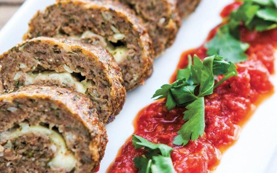 Maltos mėsos vyniotinis su sūriu
