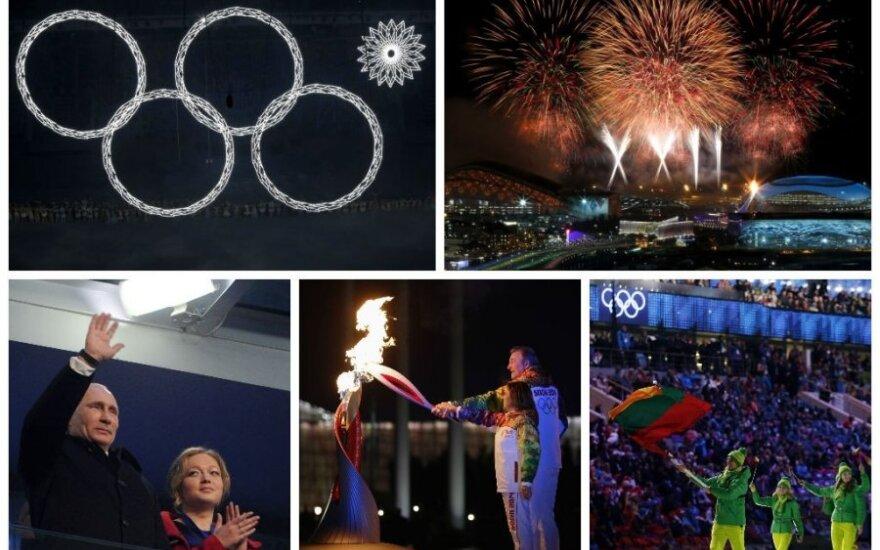 Sočio žaidynių atidaryme – santūrus V. Putinas, energingas D. Stagniūnas ir tik keturi olimpiniai žiedai