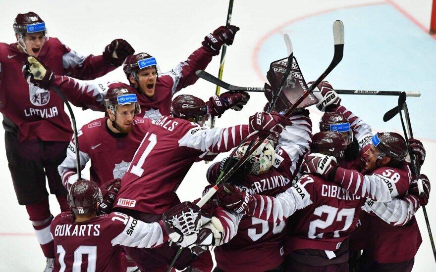 Didvyriškai žaidusi Latvijos rinktinė – pasaulio čempionato ketvirtfinalyje, Rusija vėl pralaimėjo