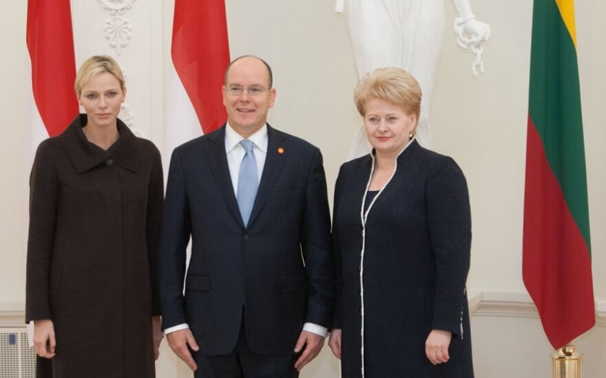 Dalia Grybauskaitė susitinka su Monako princu Albertu II-uoju ir princese Charlene