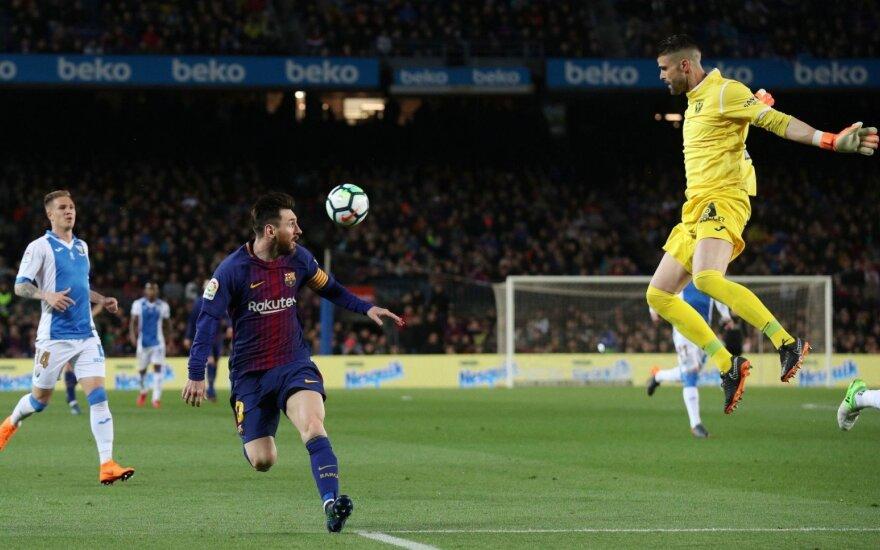 """Trys puikūs Messi įvarčiai nukalė """"Barcai"""" nelengvą pergalę"""