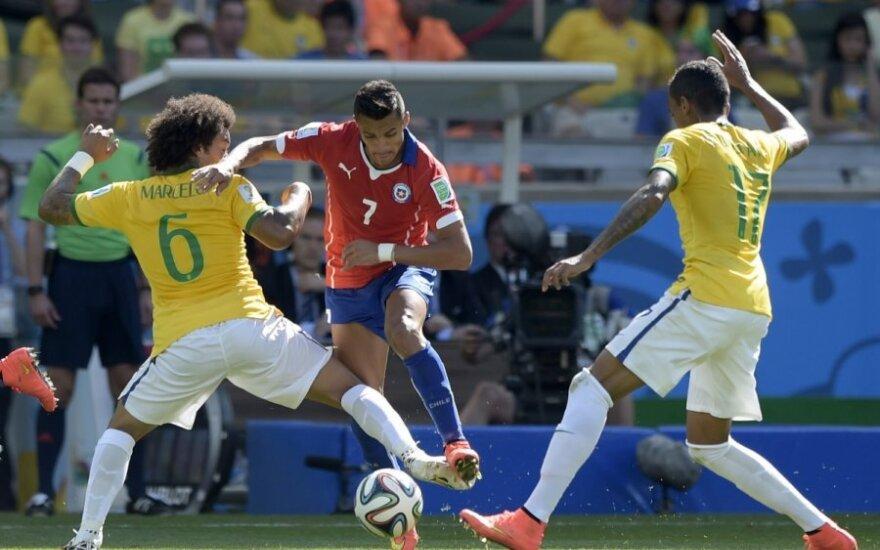 Pasaulio futbolo čempionato aštuntfinalis: Brazilija – Čilė
