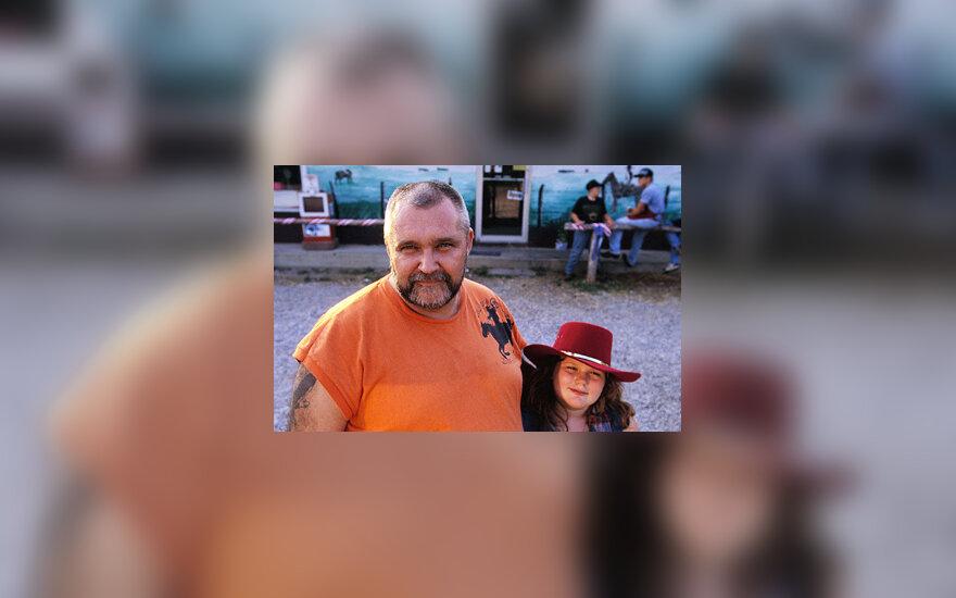 Tėtis su dukra