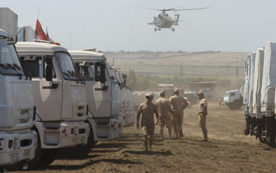 Žiniasklaida: V. Putino humanitarinę pagalbą lydi karinės mašinos