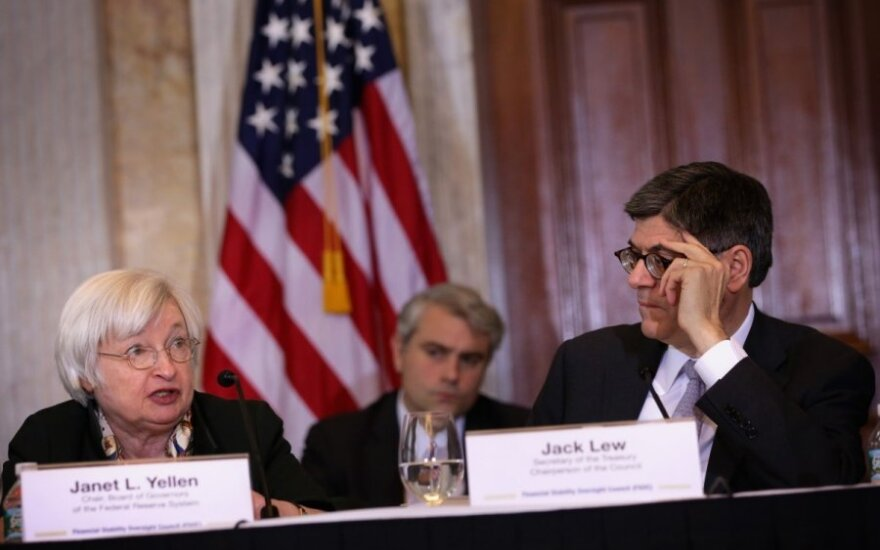 JAV federalinio atsargų banko vadovė Janet Yellen