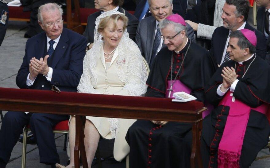 Belgijos karalius Albertas (kairėje) ir karalienė Paola