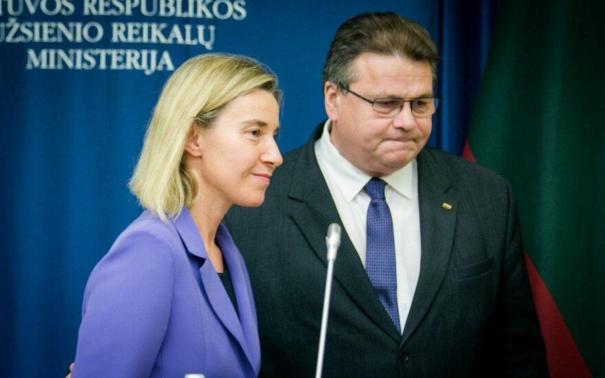 Federica Mogherini ir Linas Linkevičius