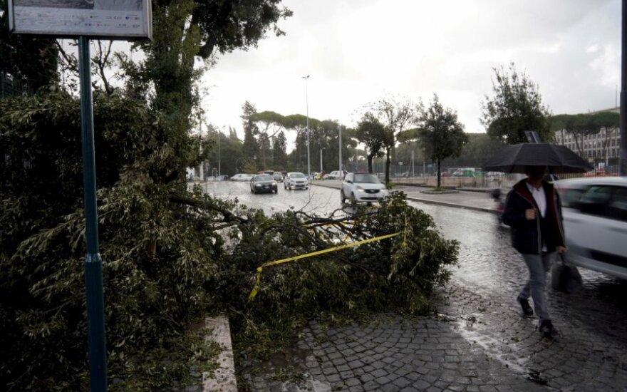Šiaurės Italiją nusiaubė stiprios audros