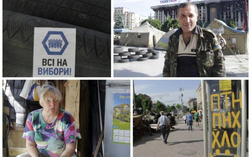 """Ukraina rinkimų išvakarėse: """"Apginti tai, už ką atidavė gyvybes"""""""