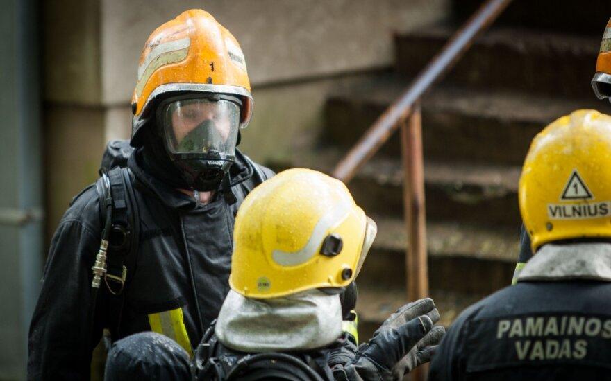 Firemen in Vilnius