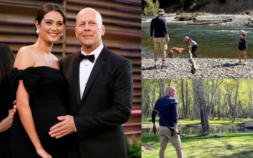 Bruce'as Willisas su žmona Emma/ Foto: RS/Scanpix ir stop kadrai