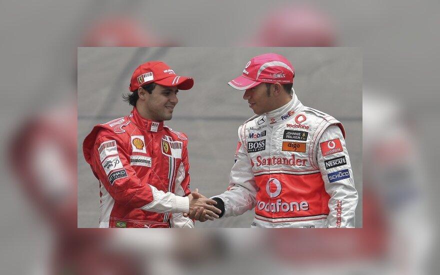 F.Massa ir L.Hamiltonas įstojo į pilotų profsąjungą