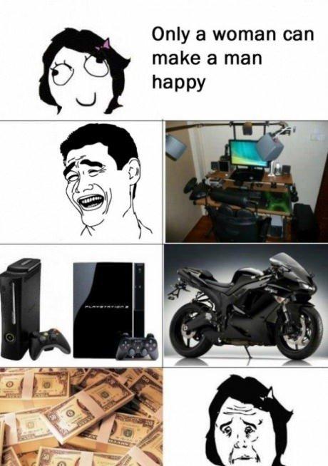 Tik moteris gali padaryti vyrą laimingą – taip, kurgi ne...