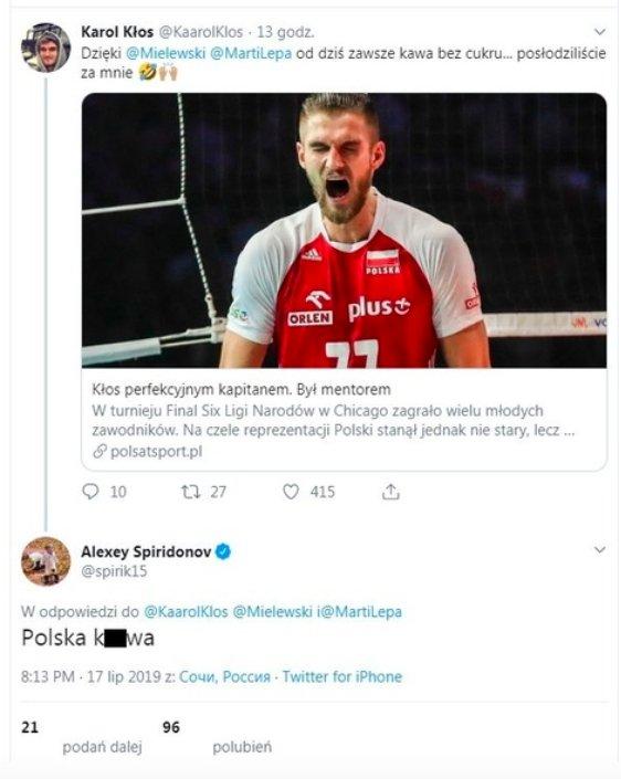 Aleksejus Spiridonovas pratrūko keiksmais