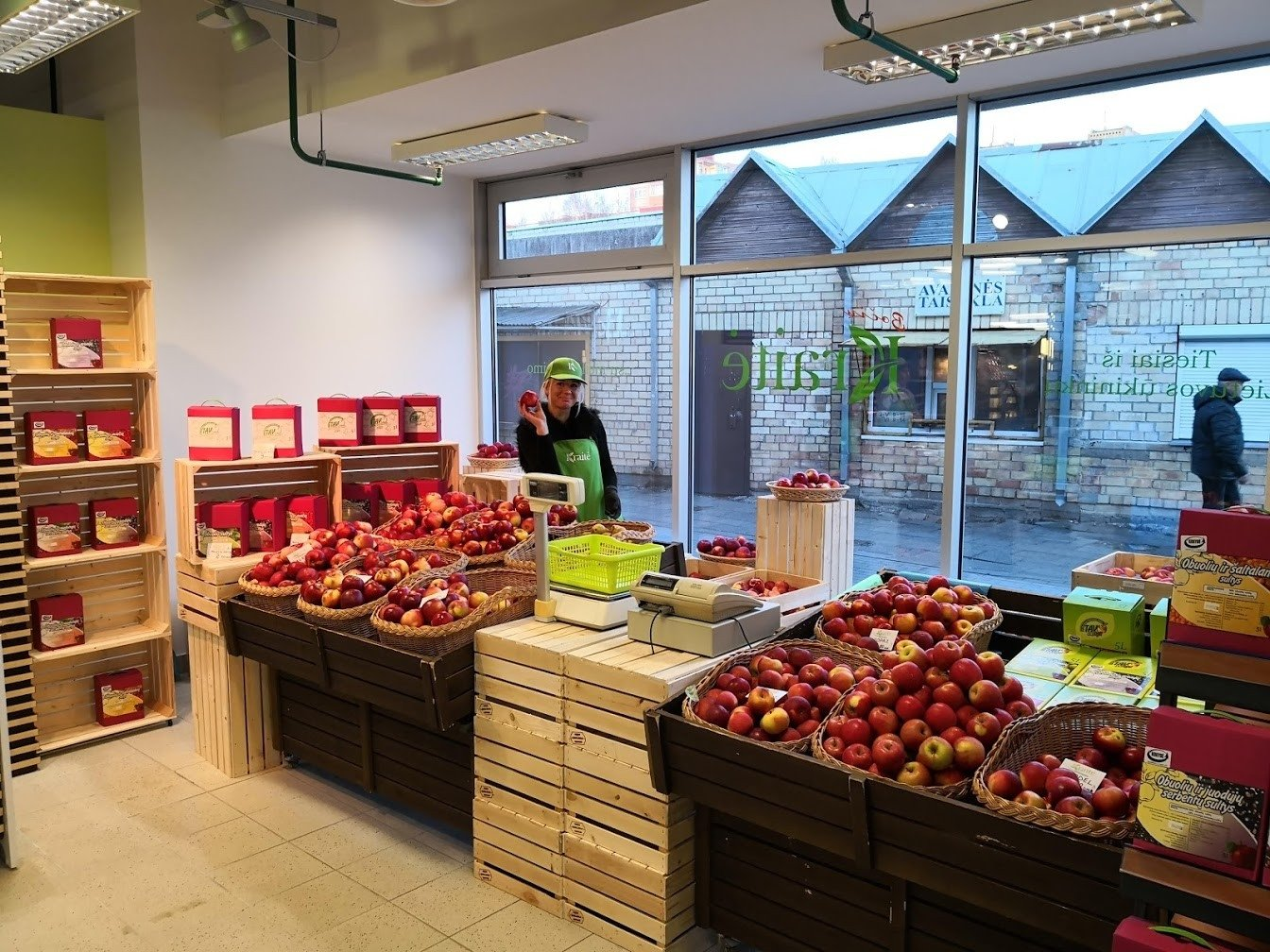 obuolių parduotuvė prekyba pasirinkimo galimybėmis