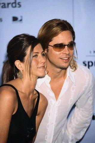 Bradas Pittas su žmona Jennifer Aniston IFP apdovanojimuose Kalifornijoje