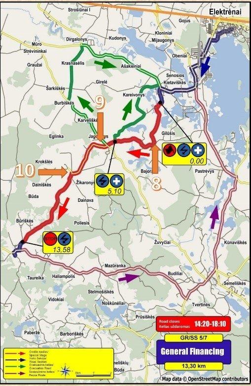 """DHL Rally Elektrėnai 2016"" 5-7 GR"