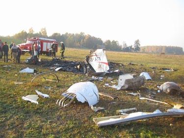 Pociūnų aerodromas, nukritus H.Grušnio pilotuojamam lėktuvui