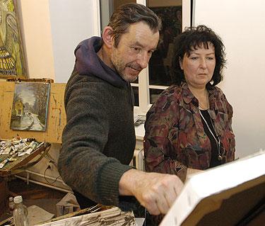 Augustinas Savickas moko tapyti