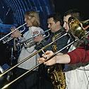 """""""Skamp"""" tikro garso koncerto repeticija, muzikantai"""
