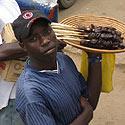 Greito maisto pardavėjas Kampalos gatvėje, Uganda