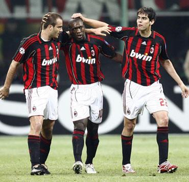 """Alberto Gilardino, Clarence'as Seedorfas ir Kaka (""""Milan"""")"""