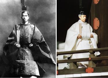 Japonijos mperatoriai Hirohito ir Akihito