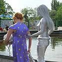 """""""Gyvoji"""" skulptūra"""