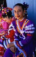 Meksikas, moteris su nacionaliniu kostiumu