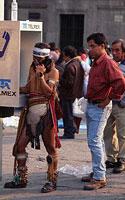 Meksikas, žmonės gatvėje