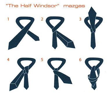 """Kaklaraiščių rišimo būdai. """"The half Windsor"""" mazgas"""