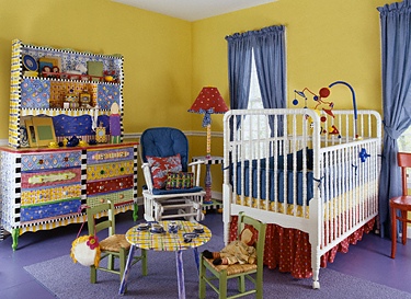 Vaikų kambarys, interjeras