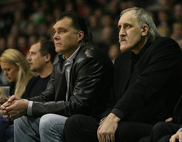 Arvydas Sabonis ir Vladimiras Tkačenko
