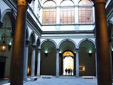 Florencija. Mediči-Rikardi rūmų vidinis kiemas