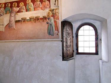 Florencija. Freskomis puoštos celės Šv. Marko vienuolyne