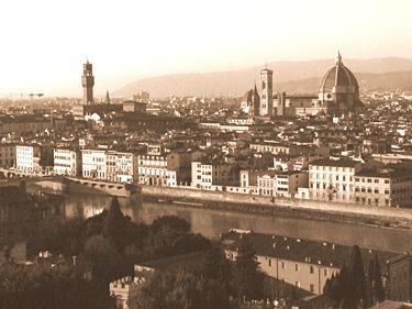 Florencija, miesto panorama iš Mikelandželo aikštės