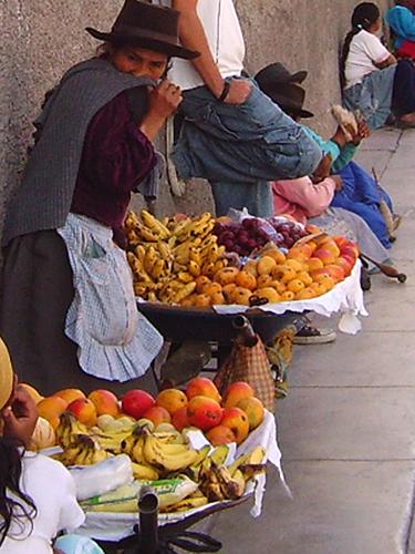 Peru, Huancayo pardavėjos