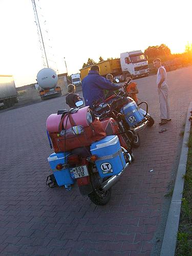 Motociklai, kelionė, Azija