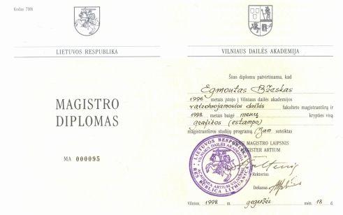 E.Bžesko Magistro diplomas (Klubas.lt)