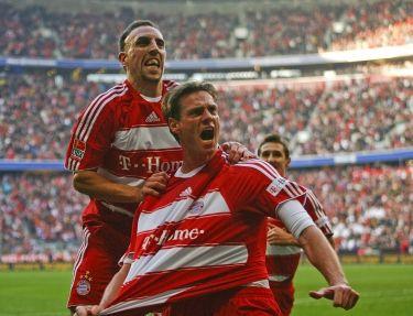 """Timas Borowski ir Franckas Riberry (""""Bayern"""")"""
