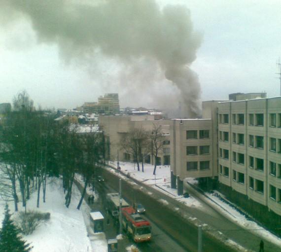 Gaisras Žygimantų gatvėje Vilniuje