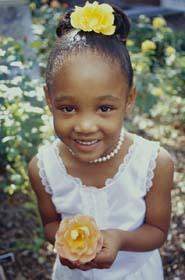 Afrika, juodaodė mergaitė