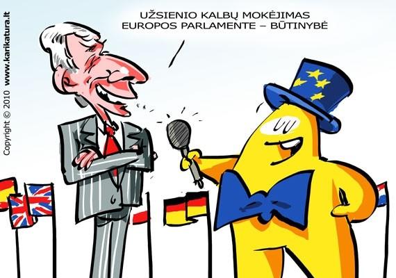 EP narys iš Lietuvos Justas Paleckis duoda interviu Europiukui