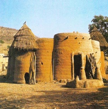 Ritualams skirtas namelis, Afrika